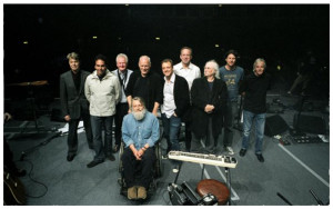 David Bowie, Jon Carin, Dick Parry, Robert Wyatt, David Gilmour, Guy Pratt, Phil Manzanera, David Crosby, Steve DiStanislao, Richard Wright.